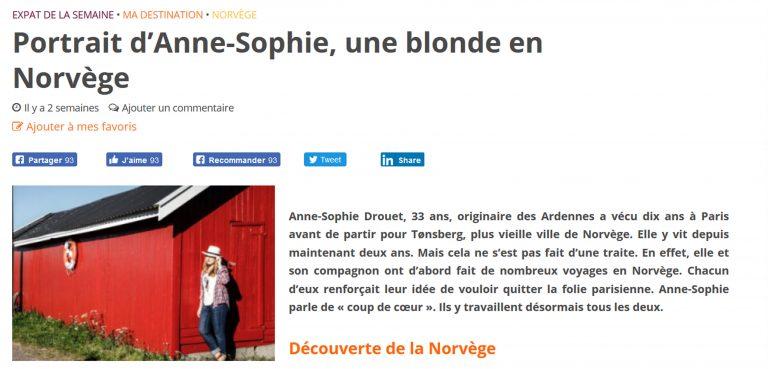 femme expat - Une blonde en Norvège