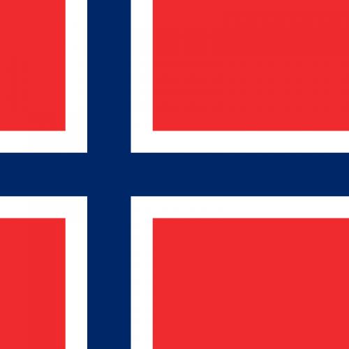 Drapeau Norvégien - Une blonde en Norvège