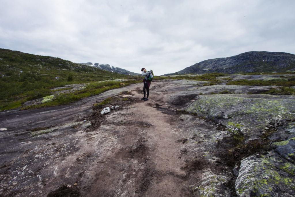 le van migrateur - Une blonde en Norvège