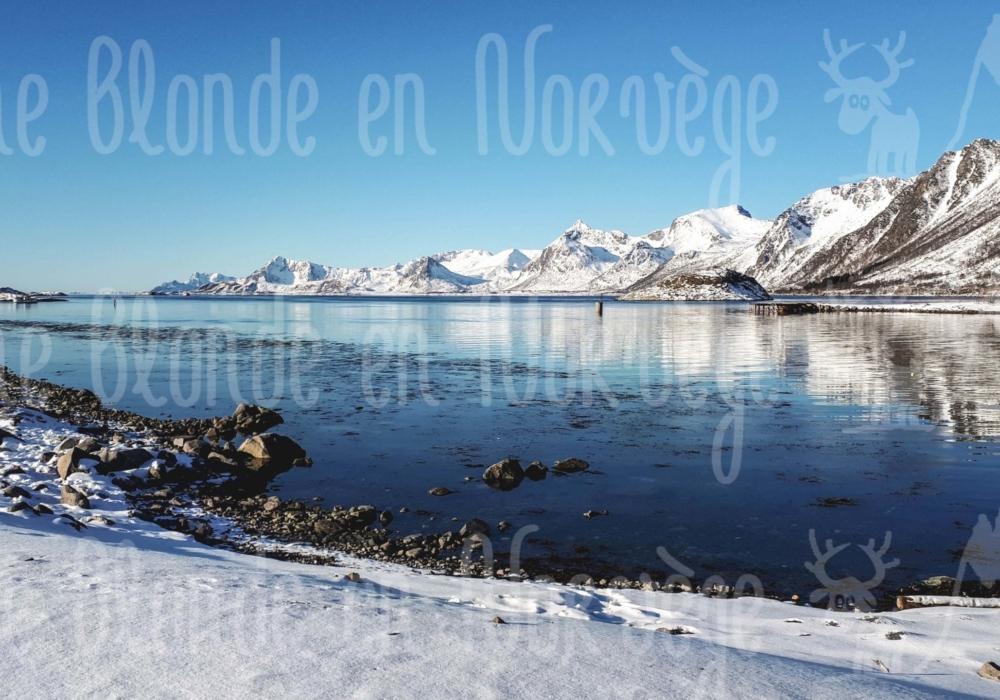Trollfjord enneigé