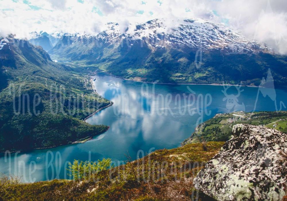 Nordfjord vu d'en haut
