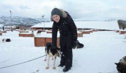 Aurores boréales - Une blonde en Norvège
