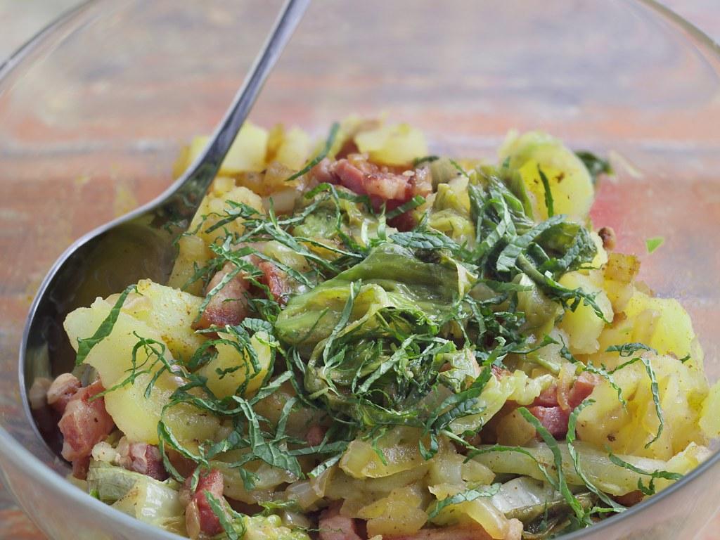 La salade au lard Ardennaise de la blonde - Une blonde en Norvège