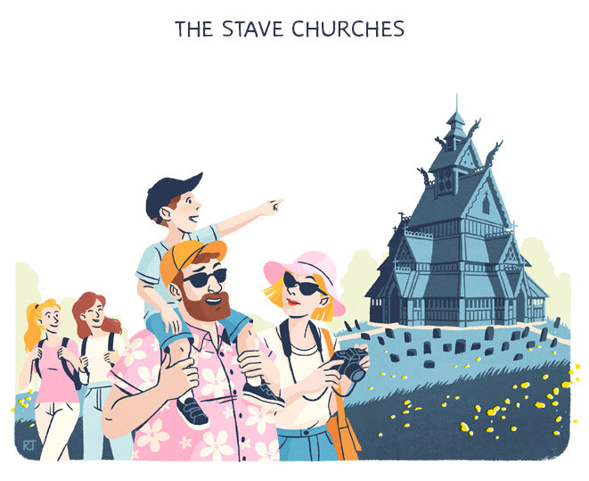 The stave churches - Not Even Cold