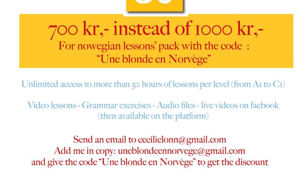 30 % discount on norwegian courses online