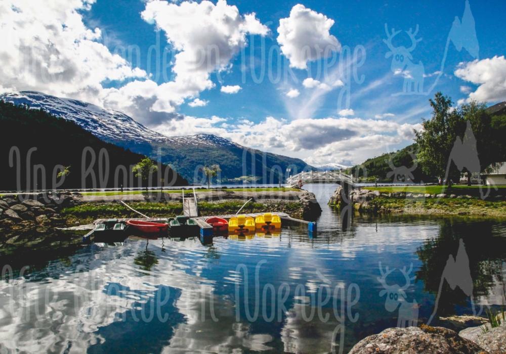 Nordfjord vu d'en bas