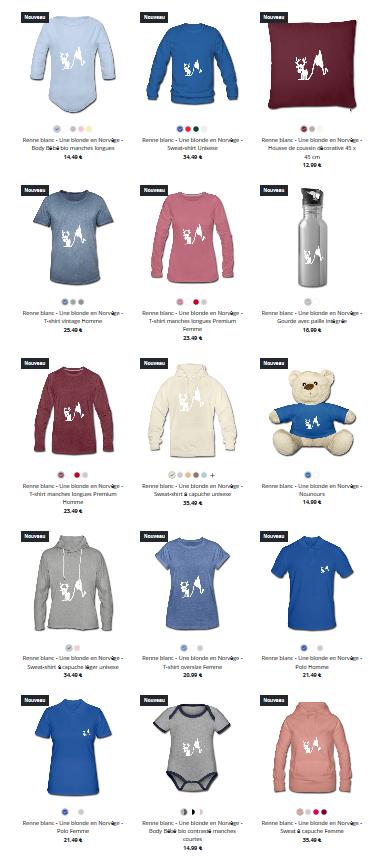 Boutique Spreadshirt - Une blonde en Norvège
