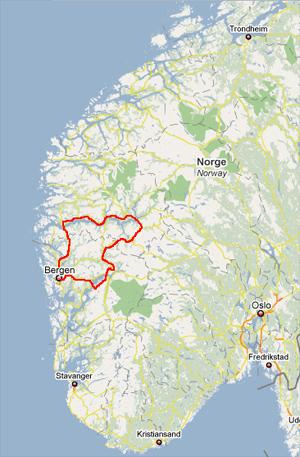 Folgefonna - Une blonde en Norvège